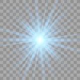 Blauwe het gloeien lichte uitbarstingsexplosie royalty-vrije illustratie