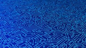 Blauwe het patroontextuur van de kringsraad High-tech achtergrond in digi royalty-vrije illustratie