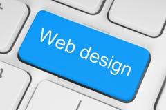 Blauwe het toetsenbordknoop van het Webontwerp Stock Afbeelding