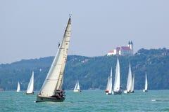Blauwe het varen van het Lint gebeurtenis stock afbeeldingen