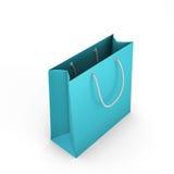 Blauwe het winkelen zak Royalty-vrije Stock Foto's