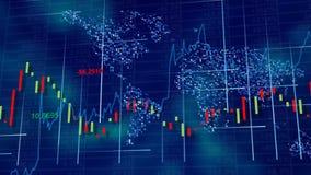 Blauwe hi-tech achtergrond - voorraaddiagrammen, grafieken en lijsten royalty-vrije stock foto's
