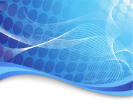 Blauwe high-tech achtergrond met golven Stock Afbeelding