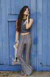 Blauwe hippie Stock Foto's