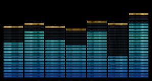 Blauwe histogram Stock Foto's