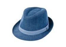 Blauwe hoed Royalty-vrije Stock Afbeeldingen