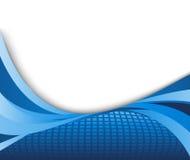 Blauwe hoge technologie - technologieachtergrond Stock Afbeelding