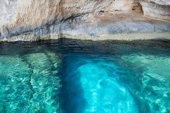 Blauwe holen op het eiland van Zakynthos, Griekenland royalty-vrije stock fotografie