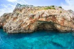 Blauwe holen op het eiland van Zakynthos, Griekenland Royalty-vrije Stock Afbeelding