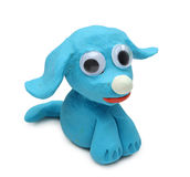 Blauwe hond Stock Foto