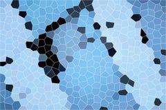 Blauwe honingraat met donkere delen Stock Foto's