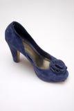 Blauwe hoog gehielde schoen royalty-vrije stock afbeelding