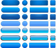 Blauwe hoog-high-detailed moderne Webknopen. Royalty-vrije Stock Afbeelding