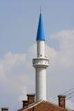Blauwe hoogste moskee stock afbeeldingen