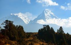 Blauwe horizon van Annapurna 1 I en Annapurna-zuiden royalty-vrije stock afbeelding