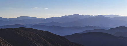 Blauwe horizonnen stock fotografie