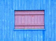 Blauwe houten Stock Fotografie