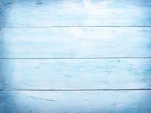 Blauwe houten achtergrond Stock Fotografie
