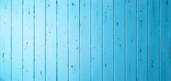 Blauwe Houten Bannerachtergrond Stock Fotografie