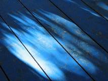 Blauwe houten details Stock Foto's