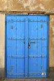 Blauwe houten doo Stock Foto