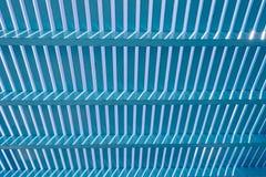 Blauwe houten lat stock afbeelding