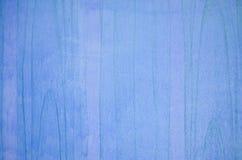 Blauwe houten muur Stock Afbeelding
