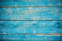 Blauwe houten omheining royalty-vrije stock afbeelding