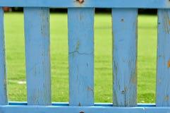 Blauwe houten piketomheining Royalty-vrije Stock Afbeelding