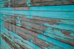 Blauwe Houten Planken Stock Foto