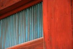 Blauwe houten textuur Stock Foto