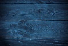 Blauwe houten textuur Stock Afbeelding