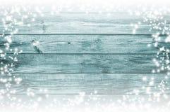 Blauwe houten textuur De achtergrond van Kerstmis Royalty-vrije Stock Afbeelding