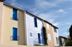 Blauwe huis en hemel Stock Afbeeldingen