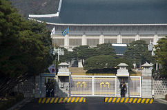 Blauwe huis presidentiële woonplaats Zuid-Korea Stock Foto