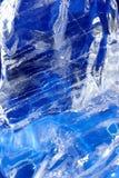 Blauwe ijsachtergrond Royalty-vrije Stock Foto's