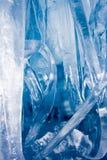 Blauwe ijskegels royalty-vrije stock foto's