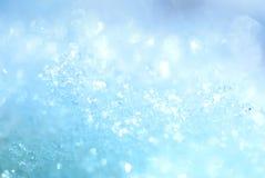 Blauwe ijskristallen royalty-vrije stock afbeelding