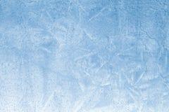 Blauwe Ijstextuur Stock Fotografie