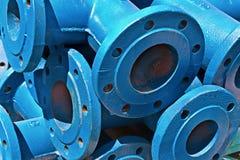 Blauwe ijzerpijpen Stock Fotografie