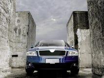 Blauwe industriële auto Royalty-vrije Stock Fotografie