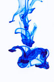Blauwe inkt in het water Royalty-vrije Stock Foto