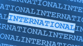 Blauwe internationale achtergrond Royalty-vrije Stock Fotografie