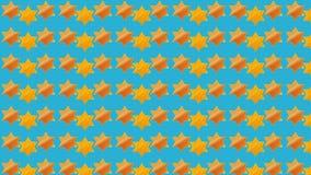 Blauwe Jodenster Als achtergrond Royalty-vrije Stock Fotografie