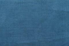 Blauwe juteachtergrond en textuur Royalty-vrije Stock Afbeelding