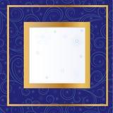 Blauwe kaart met sneeuwvlokken Stock Afbeeldingen