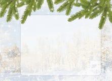 Blauwe kaart voor de vakantie Royalty-vrije Stock Foto