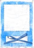 Blauwe kaart voor groet in retro stijl Stock Afbeelding