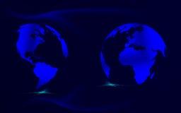 Blauwe kaarten Stock Fotografie
