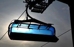 Blauwe kabelbaan Royalty-vrije Stock Fotografie